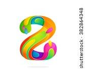 z letter colorful logo. font... | Shutterstock .eps vector #382864348