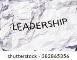 leadership | Shutterstock . vector #382865356