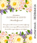 invitation with floral... | Shutterstock .eps vector #382866616