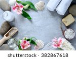 spa concept with flowers  top... | Shutterstock . vector #382867618