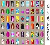 set of nail desighn. 54... | Shutterstock . vector #382872106