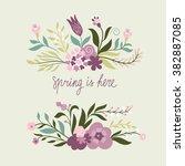 floral bouquets | Shutterstock .eps vector #382887085