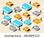 beautiful isometric design of... | Shutterstock .eps vector #382889122
