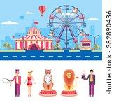 set stock vector illustration... | Shutterstock .eps vector #382890436