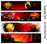 four banner on a halloween... | Shutterstock . vector #38289985