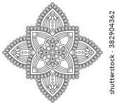 mandala. vintage decorative... | Shutterstock .eps vector #382904362