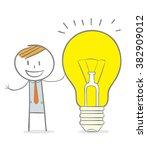 doodle stick figure  business... | Shutterstock .eps vector #382909012