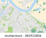 vector city map of nijmegen ... | Shutterstock .eps vector #382922806