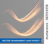 lights effect vector. line... | Shutterstock .eps vector #382923358