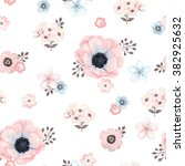 seamless soft pattern with... | Shutterstock .eps vector #382925632