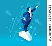 investor trader business future ... | Shutterstock .eps vector #382939288