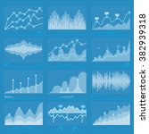 business graph analysis... | Shutterstock .eps vector #382939318