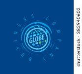 earth  logo template. globe sign | Shutterstock .eps vector #382940602