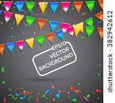 celebrate banner. party flags... | Shutterstock .eps vector #382942612