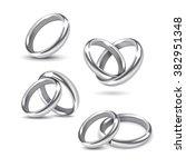 vector set of silver wedding... | Shutterstock .eps vector #382951348