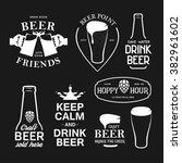 beer related typography. vector ... | Shutterstock .eps vector #382961602