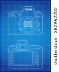 front  back and matrix with... | Shutterstock .eps vector #382962202
