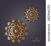 Ornamental Gold Card With Two...