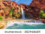 havasu falls  waterfalls in the ... | Shutterstock . vector #382968685