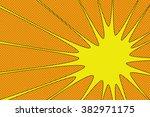 comic book explosion vector... | Shutterstock .eps vector #382971175
