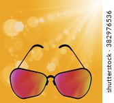 vector retro sun glasses | Shutterstock .eps vector #382976536