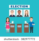 election people concept... | Shutterstock .eps vector #382977772