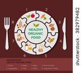 vector concept of healthy food... | Shutterstock .eps vector #382979482