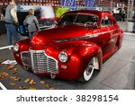 Small photo of HELSINKI, FINLAND - OCTOBER 3: X-Treme Car Show, showing 1941 Chevrolet Coupe Justiina on October 3, 2009 in Helsinki, Finland