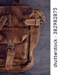 Vintage Leather Bag Detail