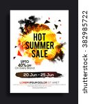 hot summer sale flyer  banner... | Shutterstock .eps vector #382985722