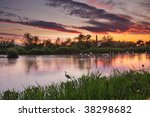 Hdr Image Of Lagoon At Sunset ...