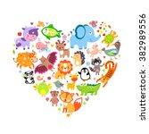 cute animals jpg. cute animals... | Shutterstock . vector #382989556