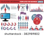 collection of infographic... | Shutterstock .eps vector #382989802