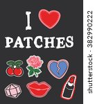 hippie patches collection | Shutterstock .eps vector #382990222