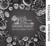 vector healthy food template.... | Shutterstock .eps vector #382996516