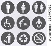 people icon set . toilet icons .... | Shutterstock .eps vector #382997092