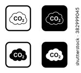 co2 icon and co2 outline icon... | Shutterstock .eps vector #382999045