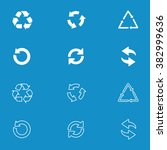 arrow icon set or recycle... | Shutterstock .eps vector #382999636