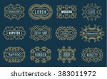 set of luxury insignias... | Shutterstock .eps vector #383011972