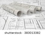 architectural project | Shutterstock . vector #383013382