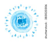 Pure Water Vector Illustration...