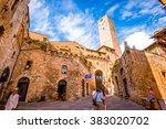 san gimignano  tuscany  italy  | Shutterstock . vector #383020702