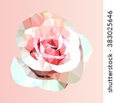 polygonal pink rose  poly low... | Shutterstock .eps vector #383025646