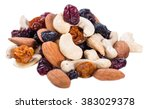 Trail Mix Isolated On White...