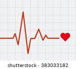 heart pulse graphic. vector... | Shutterstock .eps vector #383033182
