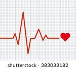 heart pulse graphic. vector... | Shutterstock .eps vector #383033182