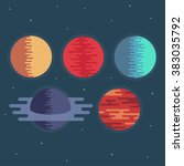 planets in space vector...   Shutterstock .eps vector #383035792
