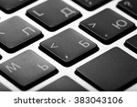 black keys of computer keyboard ... | Shutterstock . vector #383043106