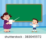 students answer questions... | Shutterstock .eps vector #383045572