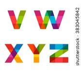 vector colorful alphabet made... | Shutterstock .eps vector #383045842